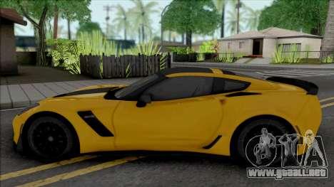 Chevrolet Corvette Z06 (C7) (SA Lights) para GTA San Andreas