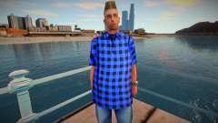 Wmybar en una camisa azul para GTA San Andreas