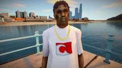 Bmycr en una camiseta blanca para GTA San Andreas
