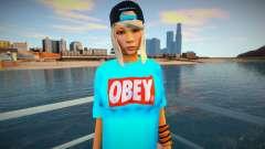 Rubia en una camiseta azul para GTA San Andreas