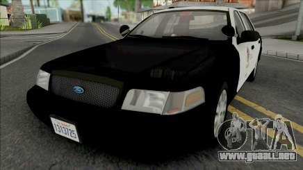 Ford Crown Victoria 2011 CVPI LAPD GND v2 para GTA San Andreas
