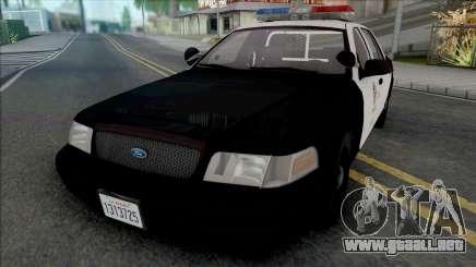 Ford Crown Victoria 2000 CVPI LAPD para GTA San Andreas
