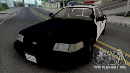 Ford Crown Victoria 1999 CVPI LAPD para GTA San Andreas