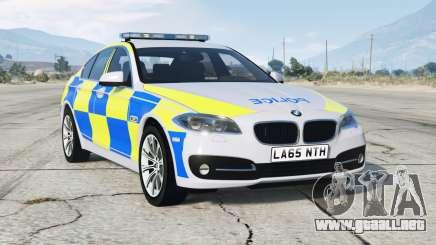 BMW 530d (F10) 2013〡British Policía para GTA 5