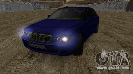 BMW 760LI EKH152RUS para GTA San Andreas