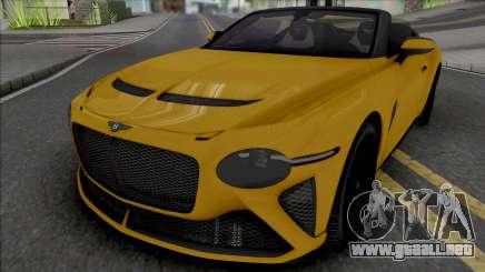 Bentley Mulliner Bacalar [HQ] para GTA San Andreas