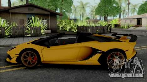 Lamborghini Aventador SVJ Roadster 2020 para GTA San Andreas