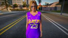 Tina Armstrong Fashion Lakers Ourstorys Jersey 2 para GTA San Andreas