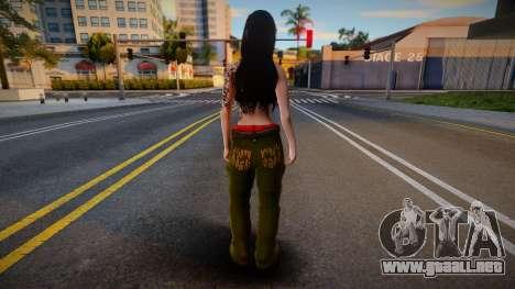 Gangsta girl skin para GTA San Andreas