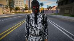 Miembro del grupo X7 con chaqueta de cuero de S.T.A.L para GTA San Andreas