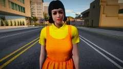 Female Custom Giant Doll Dress Round6 Squid Game para GTA San Andreas