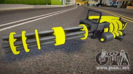 Yellow Tron Legacy - Minigun para GTA San Andreas