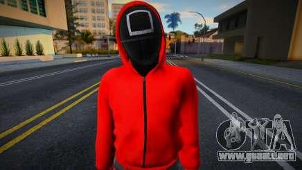 Male Random Guard N3 Squid Game para GTA San Andreas